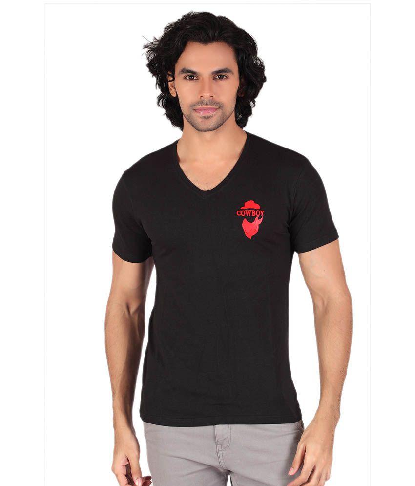 Anger Beast Designer Slim Fit V Neck Tshirt for Men