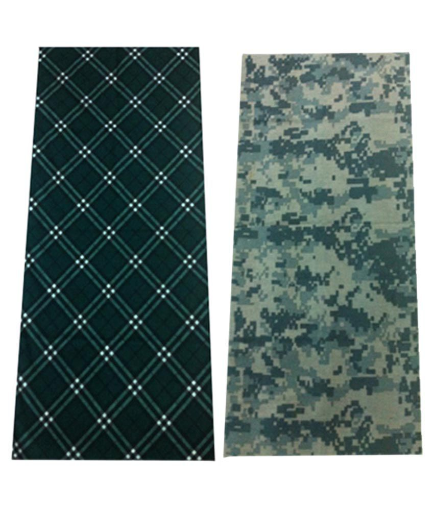 Atyourdoor Multipurpose Bandana Tube or Scarf For Both Men And Women - Set Of 2