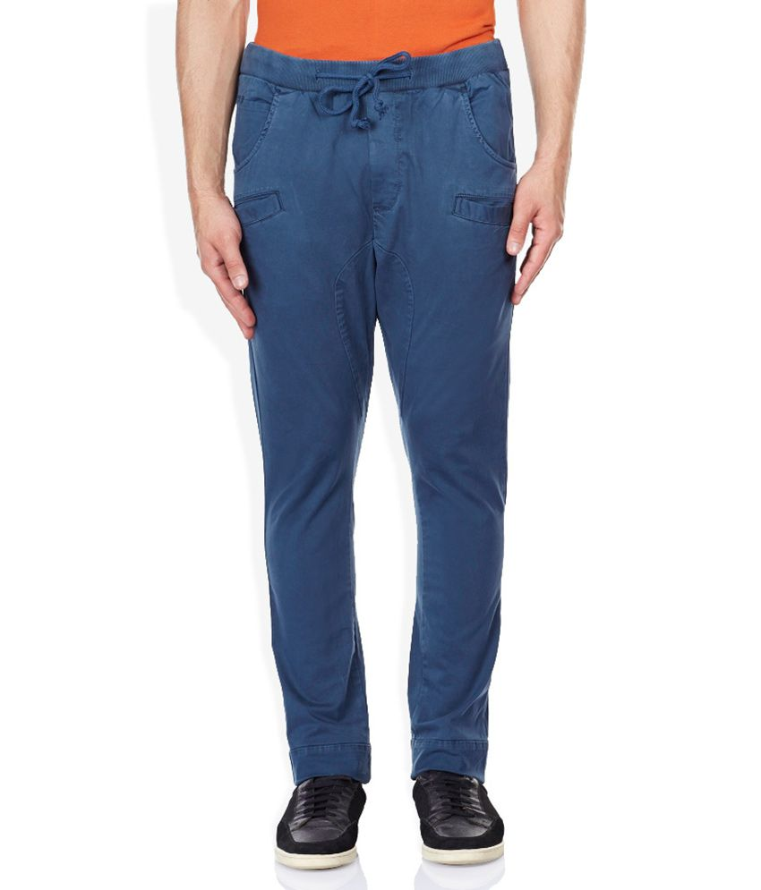Breakbounce Blue Solid Chinos