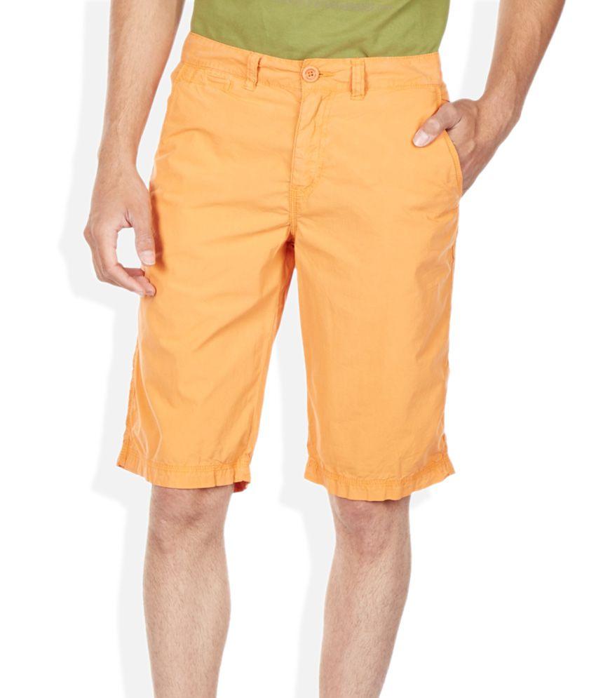 Breakbounce Orange Solid Shorts