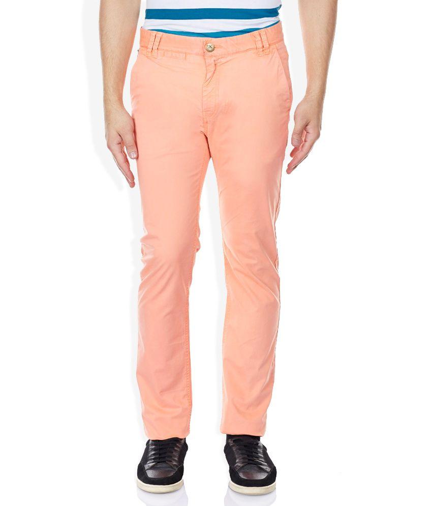 Breakbounce Orange Slim Fit Trousers
