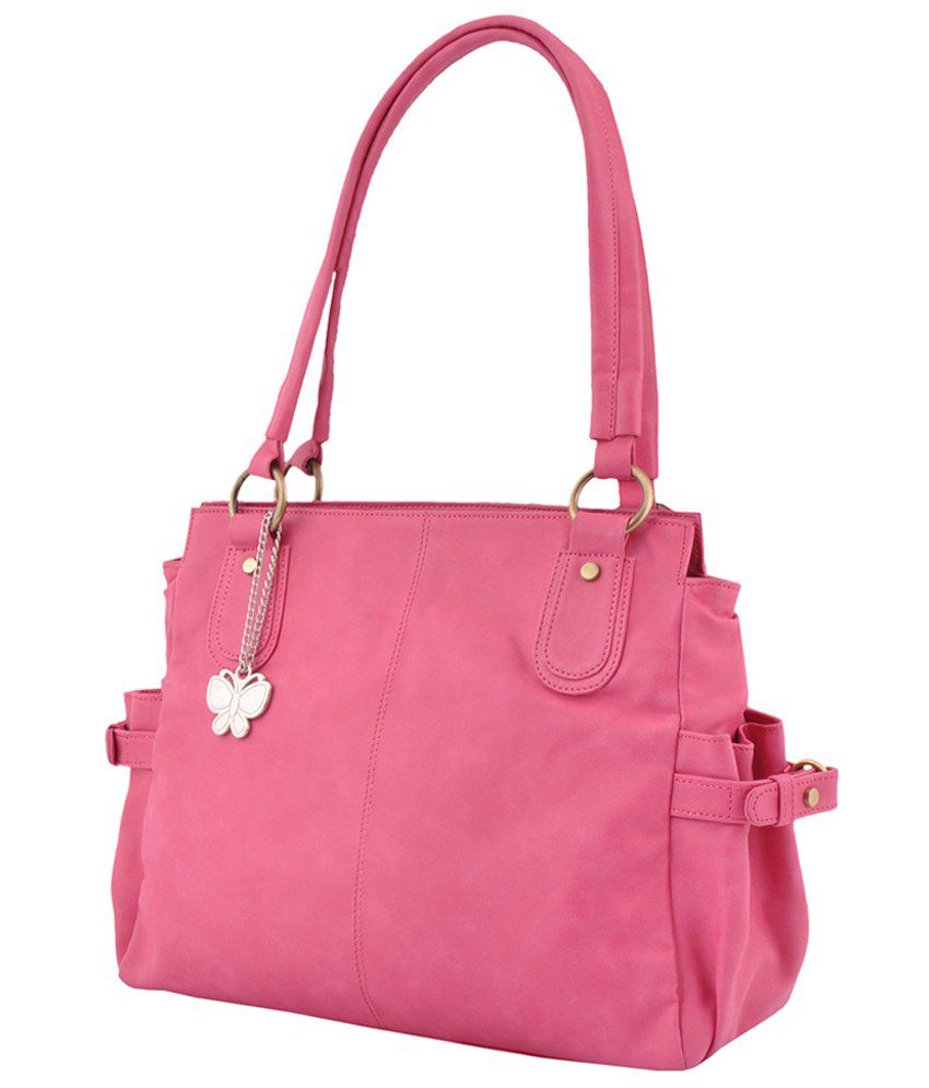 eef09a1c3234 Butterflies Pink Faux Leather Shoulder Bag - Buy Butterflies Pink Faux  Leather Shoulder Bag Online at Best Prices in India on Snapdeal