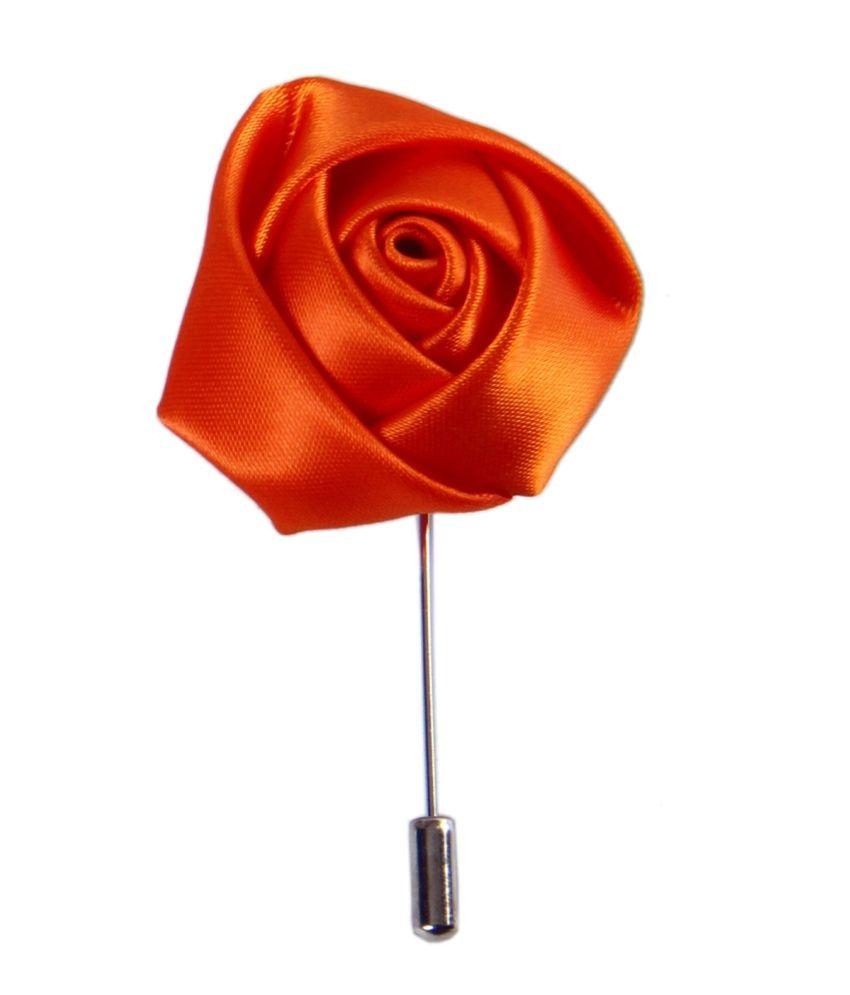 Classique Coat/Suit's Unisex Satin Flower Lapel Pin Packed In Fancy Gift Box