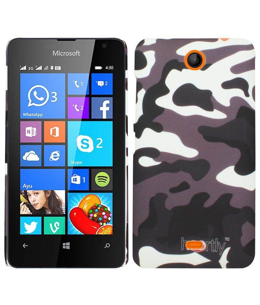 competitive price 44016 634d4 Heartly Army Printed Back Case Cover For Microsoft Lumia 430 Dual SIM -  Brown