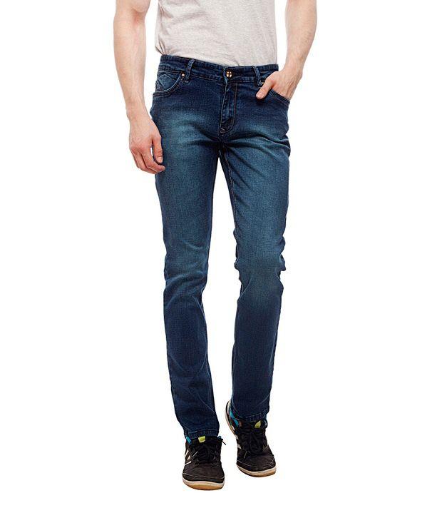 Lacrossejeans Blue Regular Fit Mid Rise Jeans