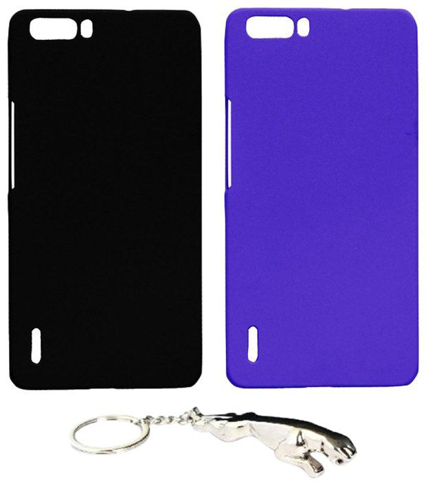 Winsome Deal Admirable Multicolour Combo of Keychain & 2 Huawei Honor Holly6 Back Covers
