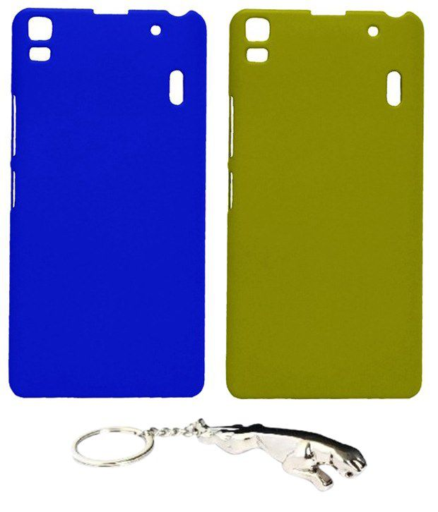 Winsome Deal Dazzling Multicolour Combo of Keychain & 2 Lenovo A7000 Back Covers