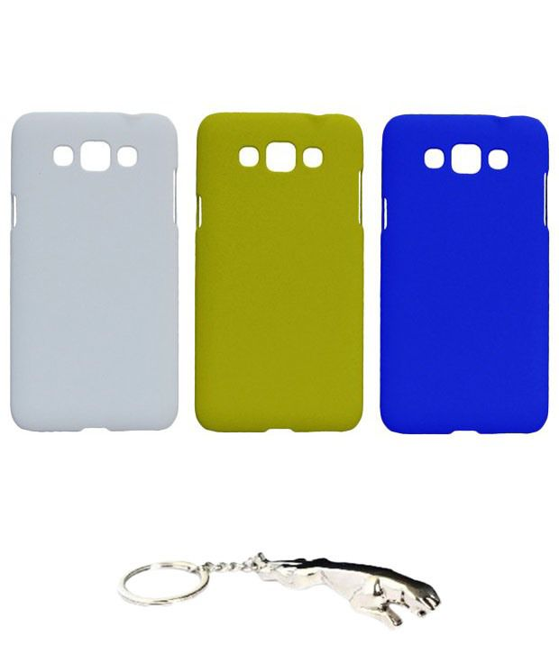 Winsome Deal Multicolour Combo of Keychain & 3 Samsung Galaxy Grand 3 SM7200 Back Covers
