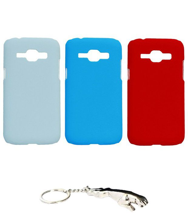 Winsome Deal Multicolour Combo of Keychain & 3 Samsung Galaxy J1 SMJ100H Back Covers