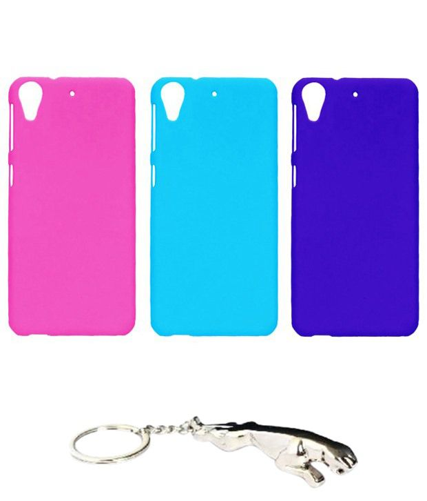 Winsome Deal Multicolour Combo of Keychain & 3 HTC Desire 626 Back Covers