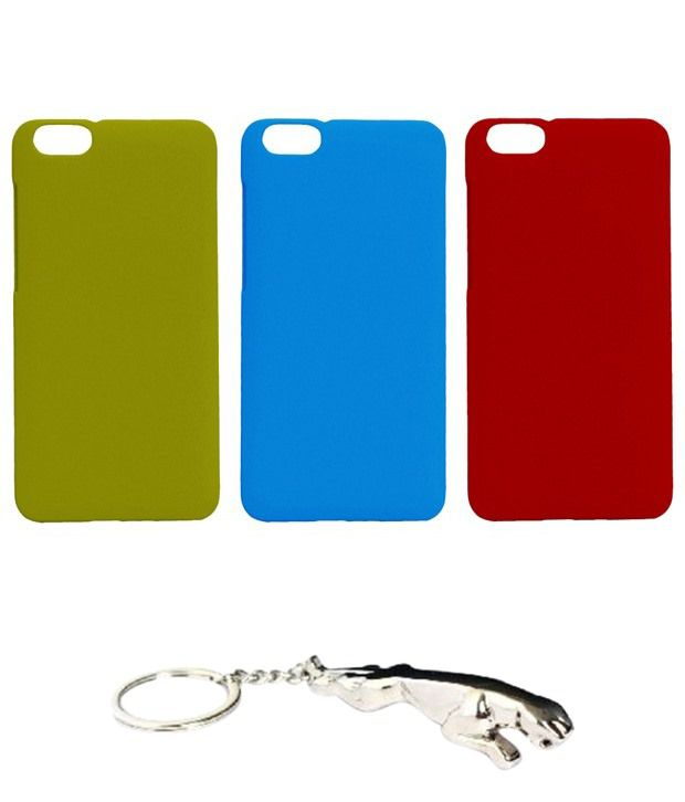 Winsome Deal Multicolour Combo of Keychain & 3 Huawei Honor 4X Back Covers