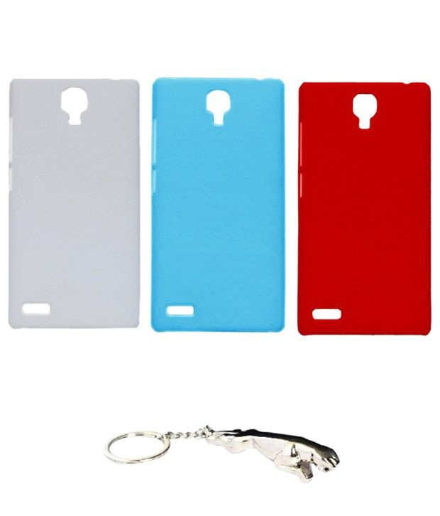 Winsome Deal Multicolour Combo of Keychain & 3 Xiaomi Redmi Note Back Covers