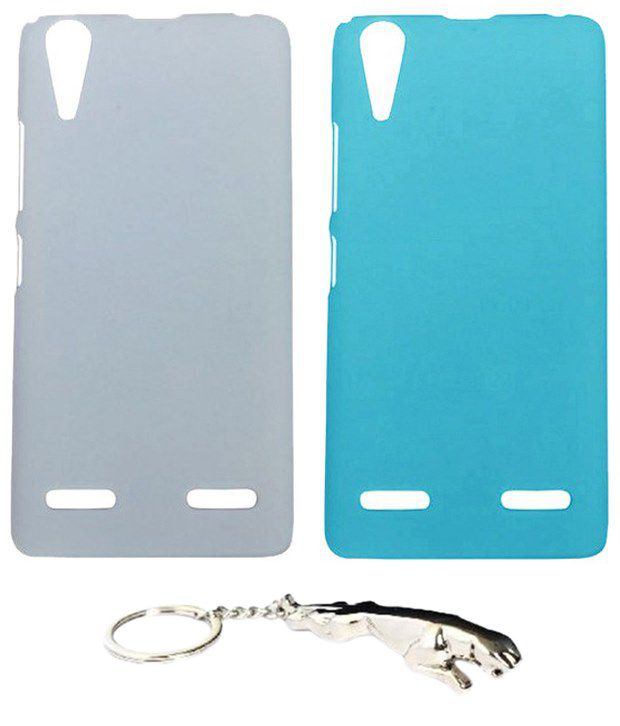 Winsome Deal Trendy Multicolour Combo of Keychain & 2 Lenovo K3 A6000 Back Covers