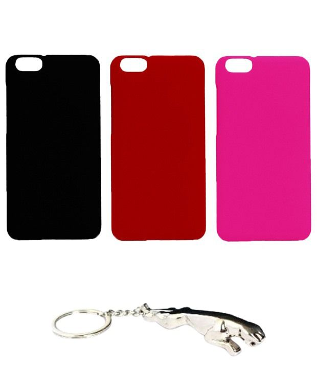 Winsome Deal Trendy Multicolour Combo of Keychain & 3 Huawei Honor 4X Back Covers