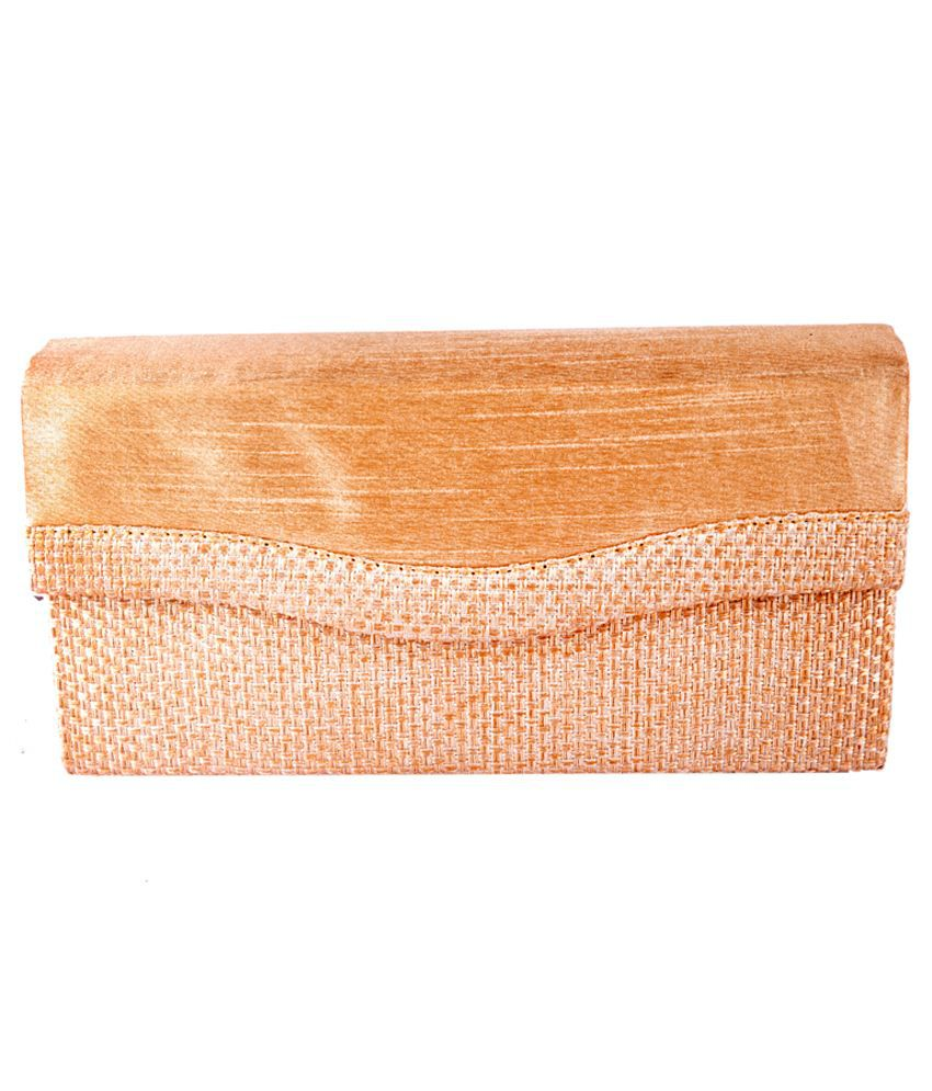 Angelfish Jute Clutch-Golden