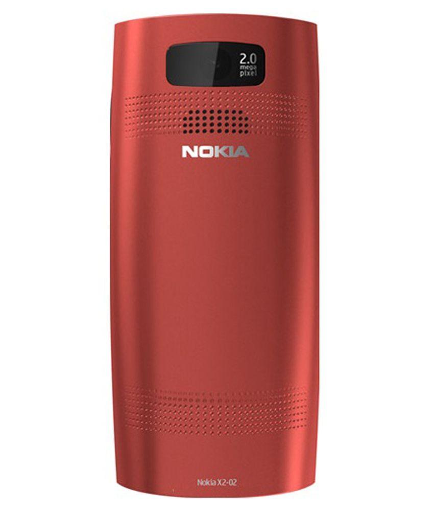 Nokia X2-02 Original Back Panel - Red
