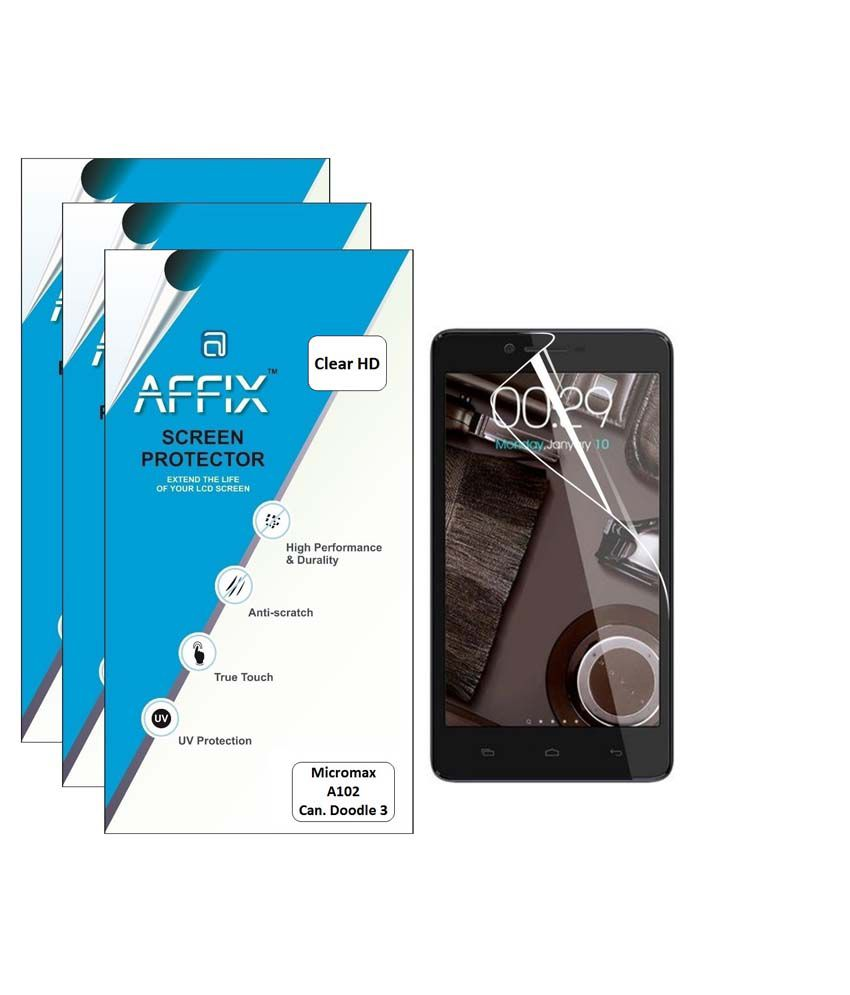 Micromax A102 Doodle 3 Clear Screen Guard by Affix