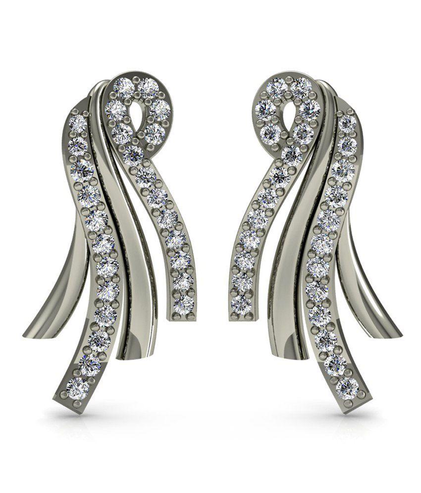 Diaonj 14kt Gold Drop Earrings