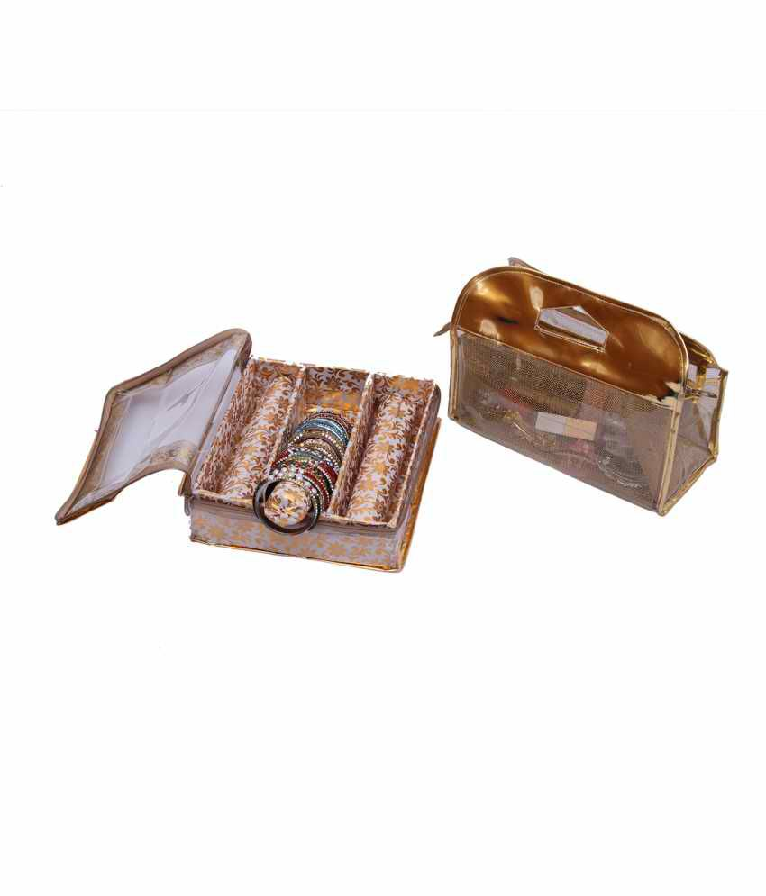 Kuber Industries Bangle Three Roll & Vanity Box