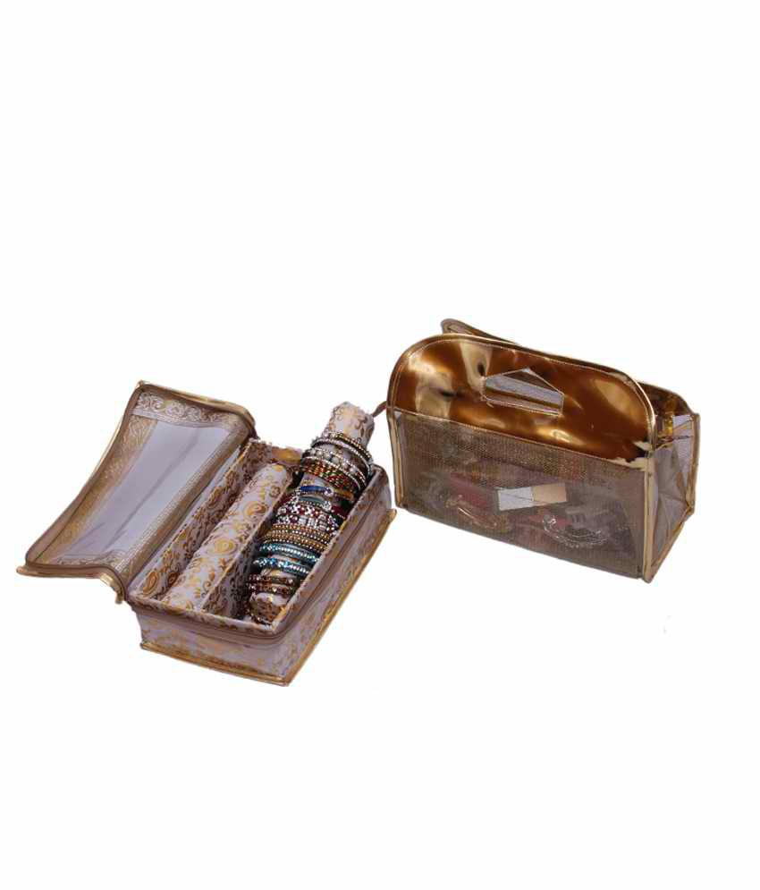 Kuber Industries Bangle Two Roll & Vanity Box