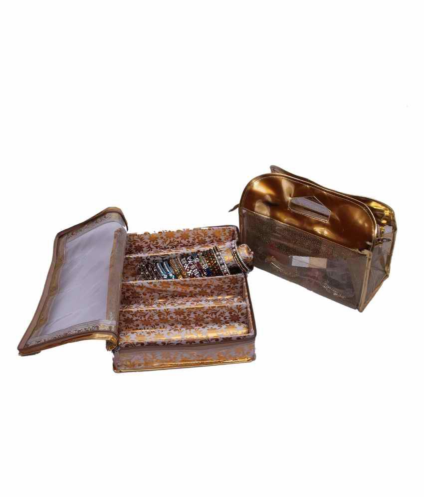 Kuber Industries Four Roll Bangle Box & Vanity Box