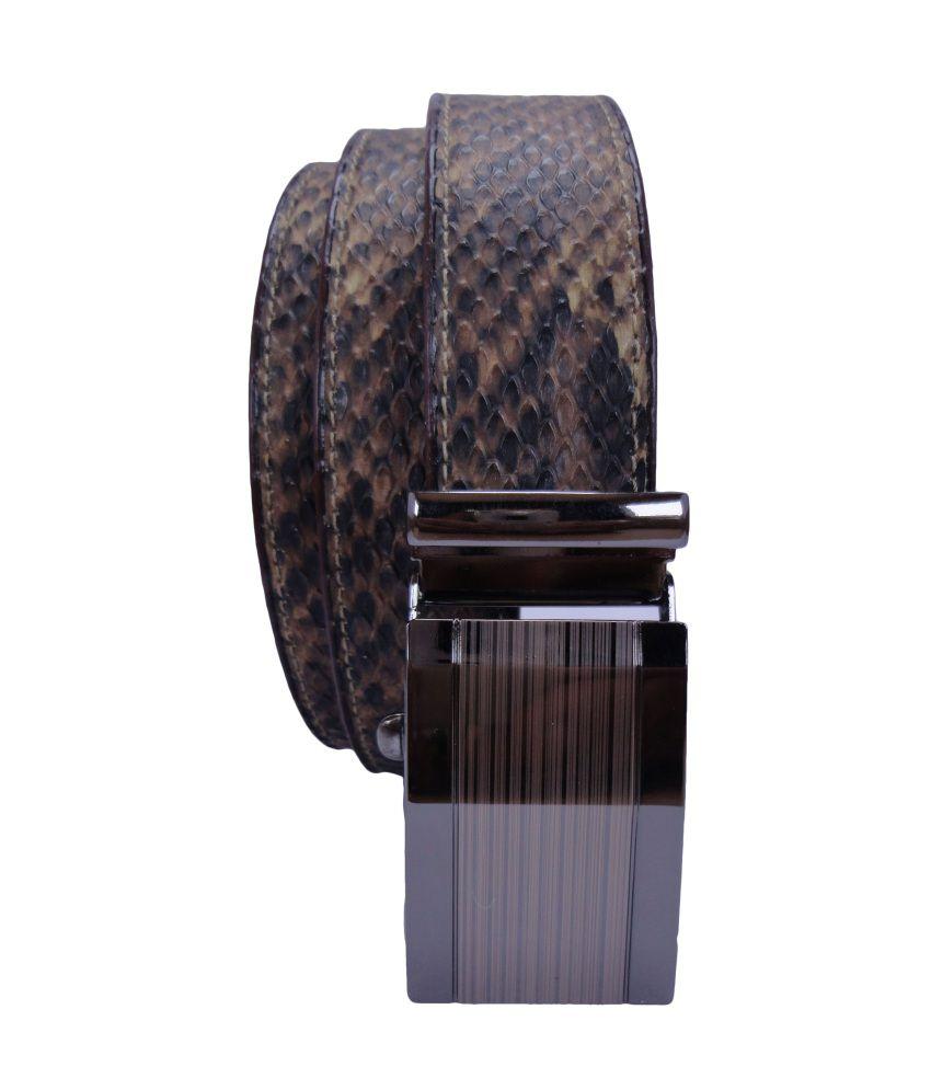 Revo Brown Non Leather Formal Autolock Buckle Men's Belt