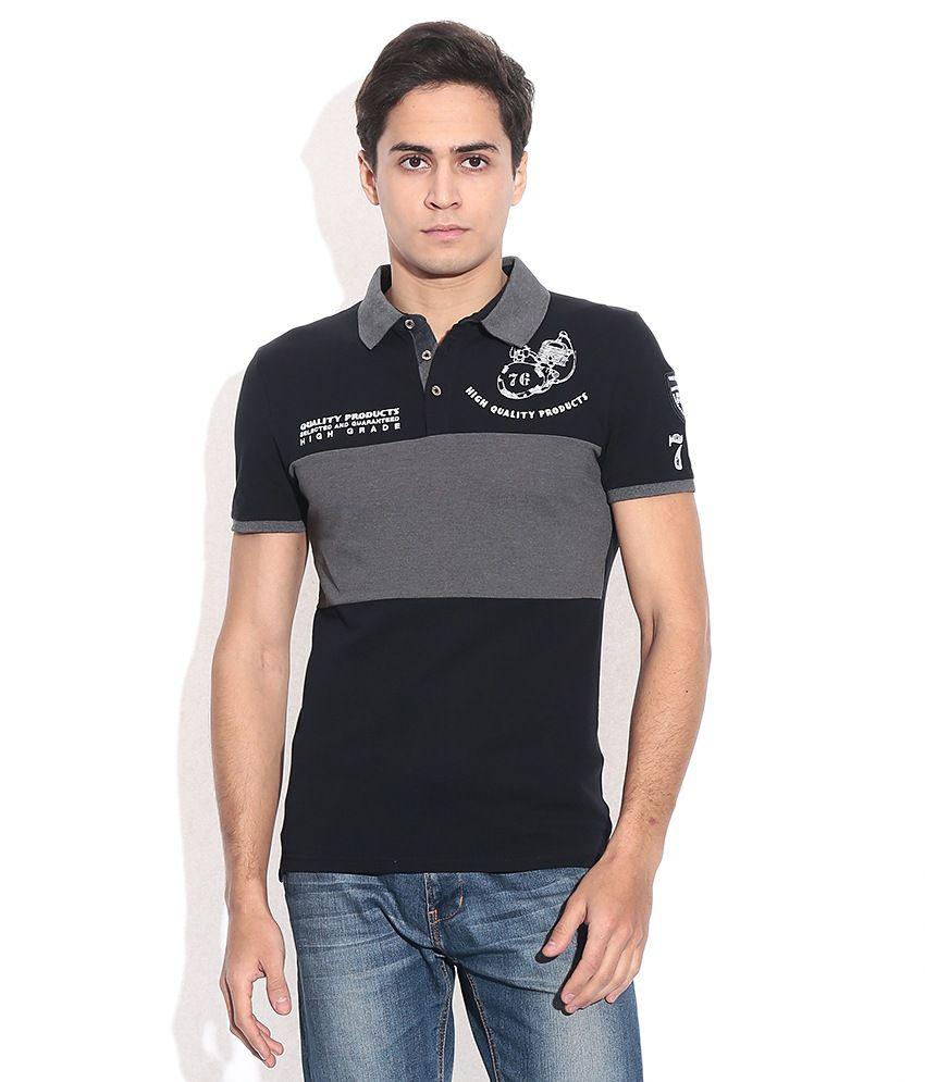 Celio Black  Polo Neck T-shirt
