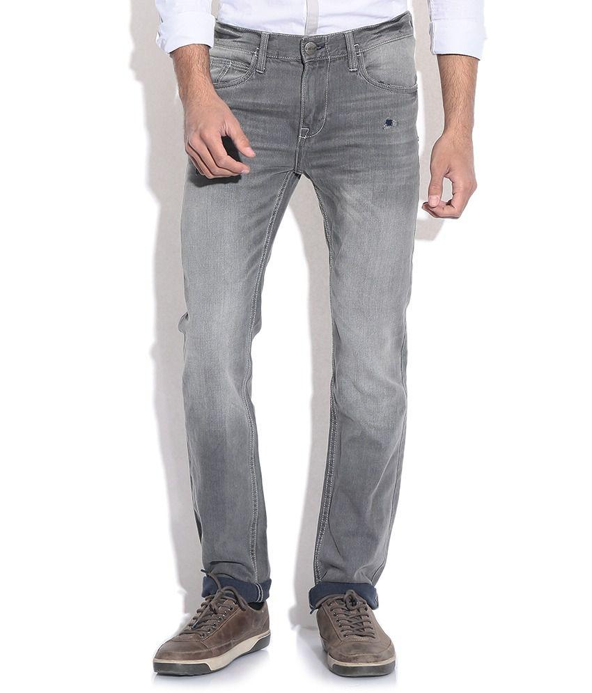 Celio Gray Slim Fit Jeans