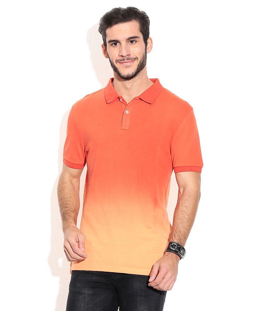 Celio Orange Cotton T-shirt
