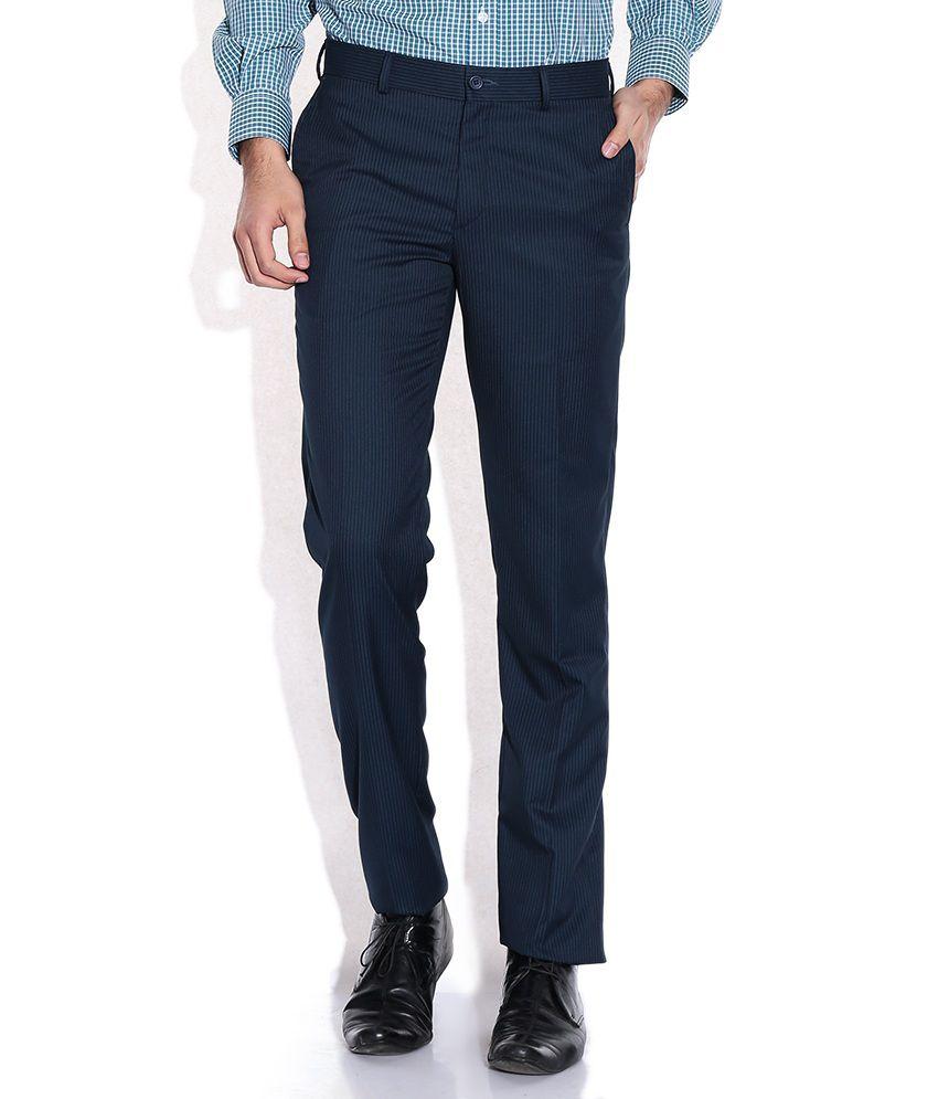John Players Blue Slim Fit Trouser