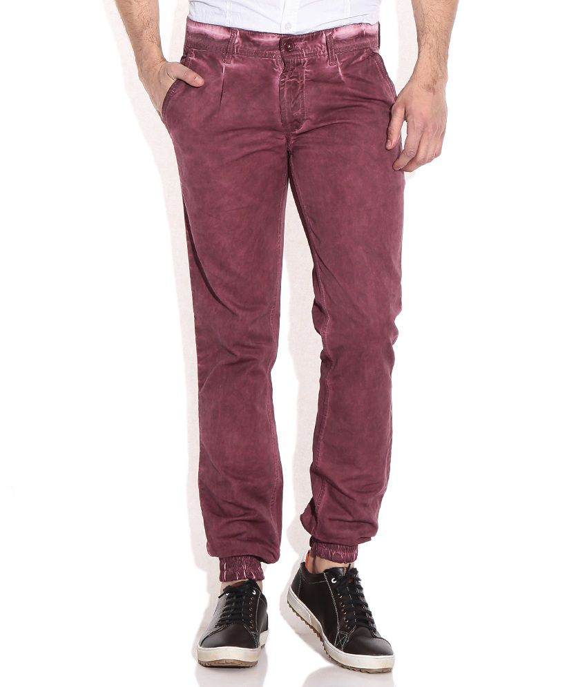 John Players Brown Slim Casuals