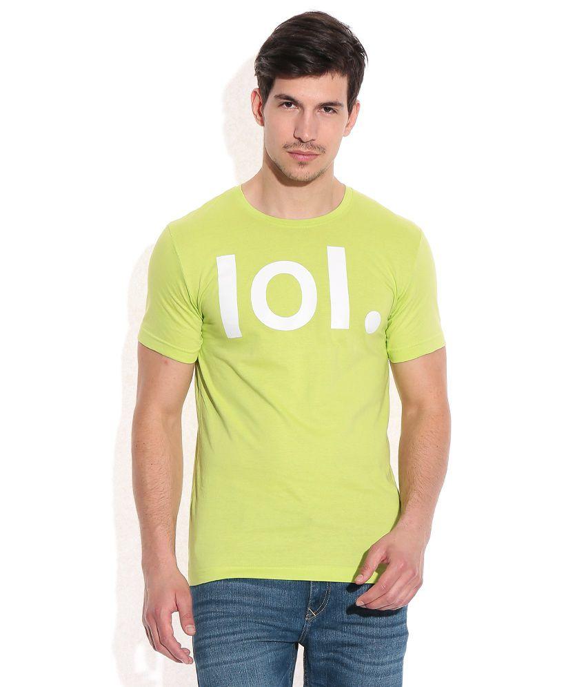 John Players Green Cotton Round Neck T-Shirt