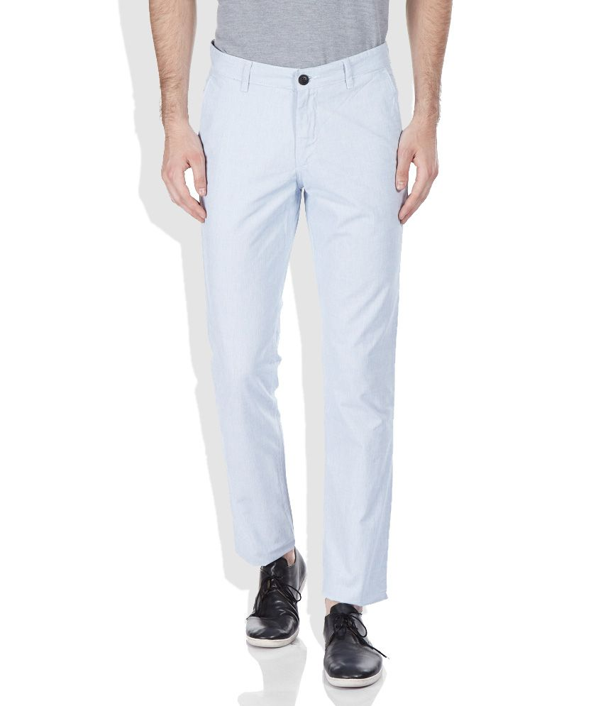 John Players Navy Slim Fit Trousers