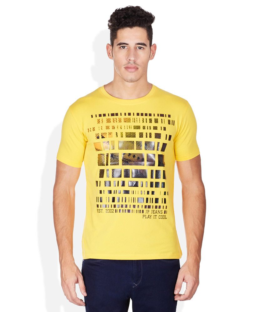 John Players Yellow Round Neck T Shirt
