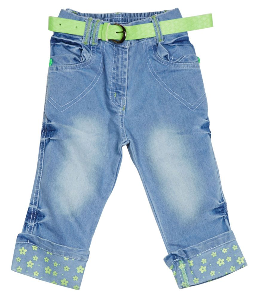 Little Kangaroos Blue Cotton Blend Capris