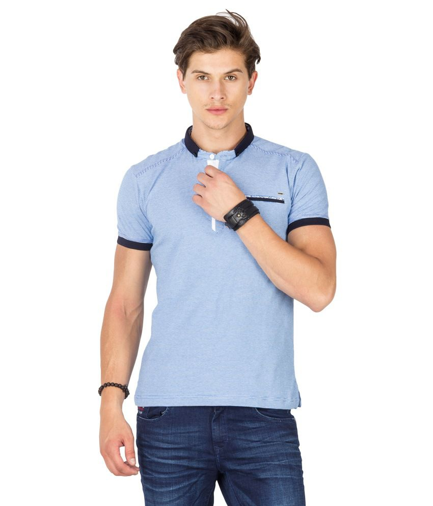 Mufti Blue Polo Neck T Shirt Buy Mufti Blue Polo Neck T