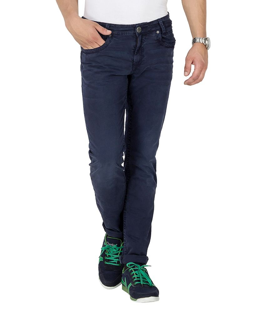 Mufti Navy Tapered Fit Jeans