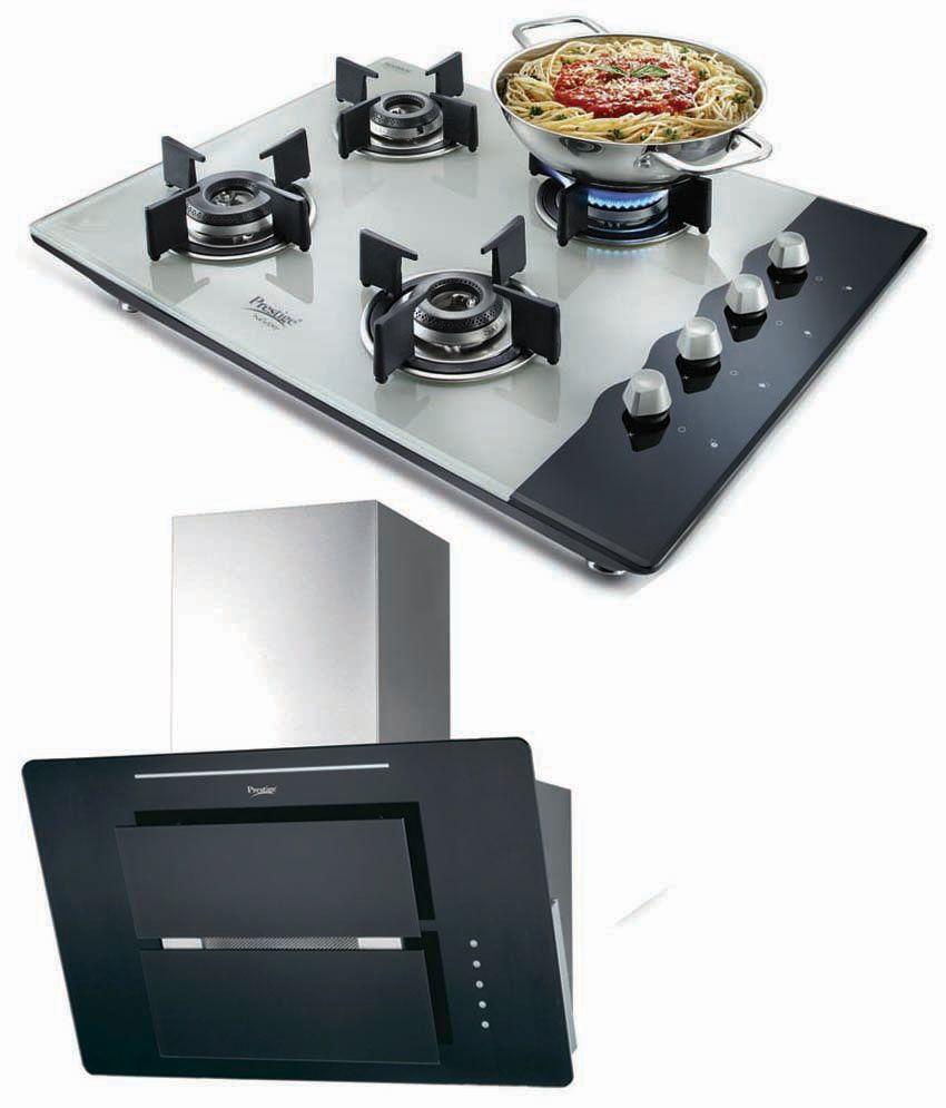 Prestige GKH 900 SL Kitchen Hood & 4 Burner AI Hob Top Combo Price ...