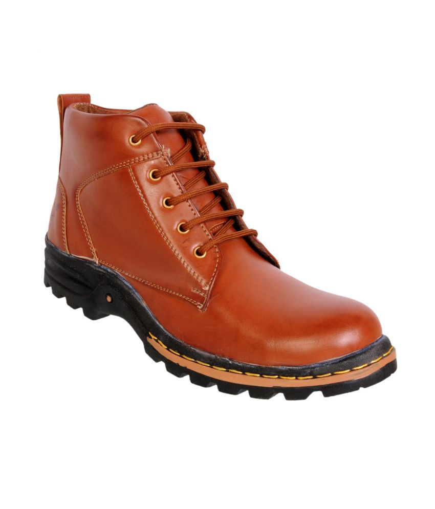 Bento Young Tan Synthetic Leather Boots