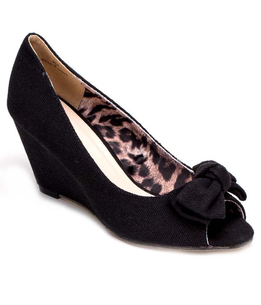 FFC New York Black Peep Toe Slip-on