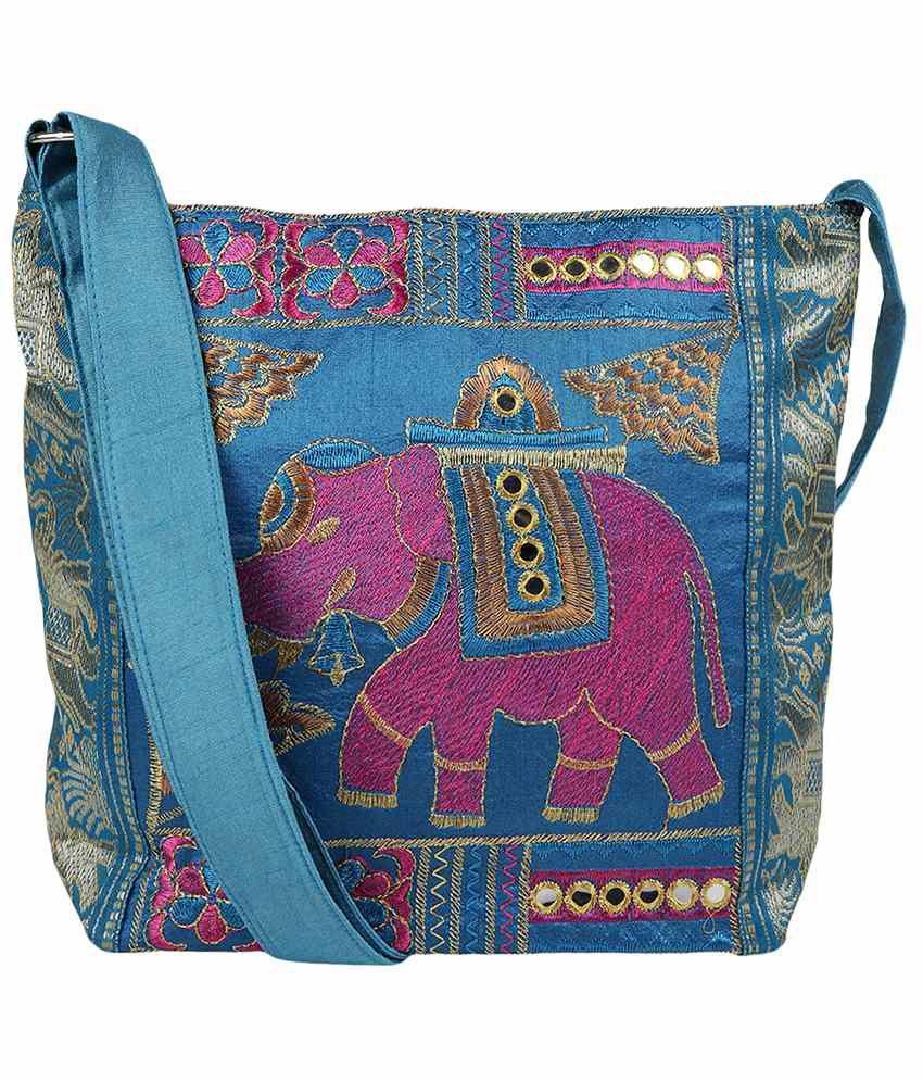 Fashiondrobe Shoulder Bag-Blue