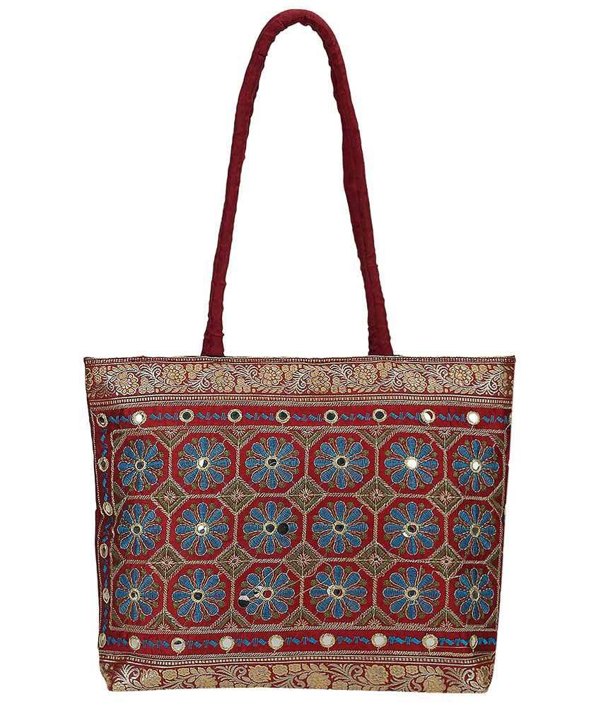 Fashiondrobe Shoulder Bag-Maroon