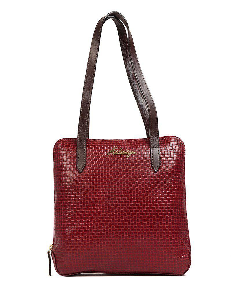 Hidesign Nairobi Red Leather Shoulder Bag