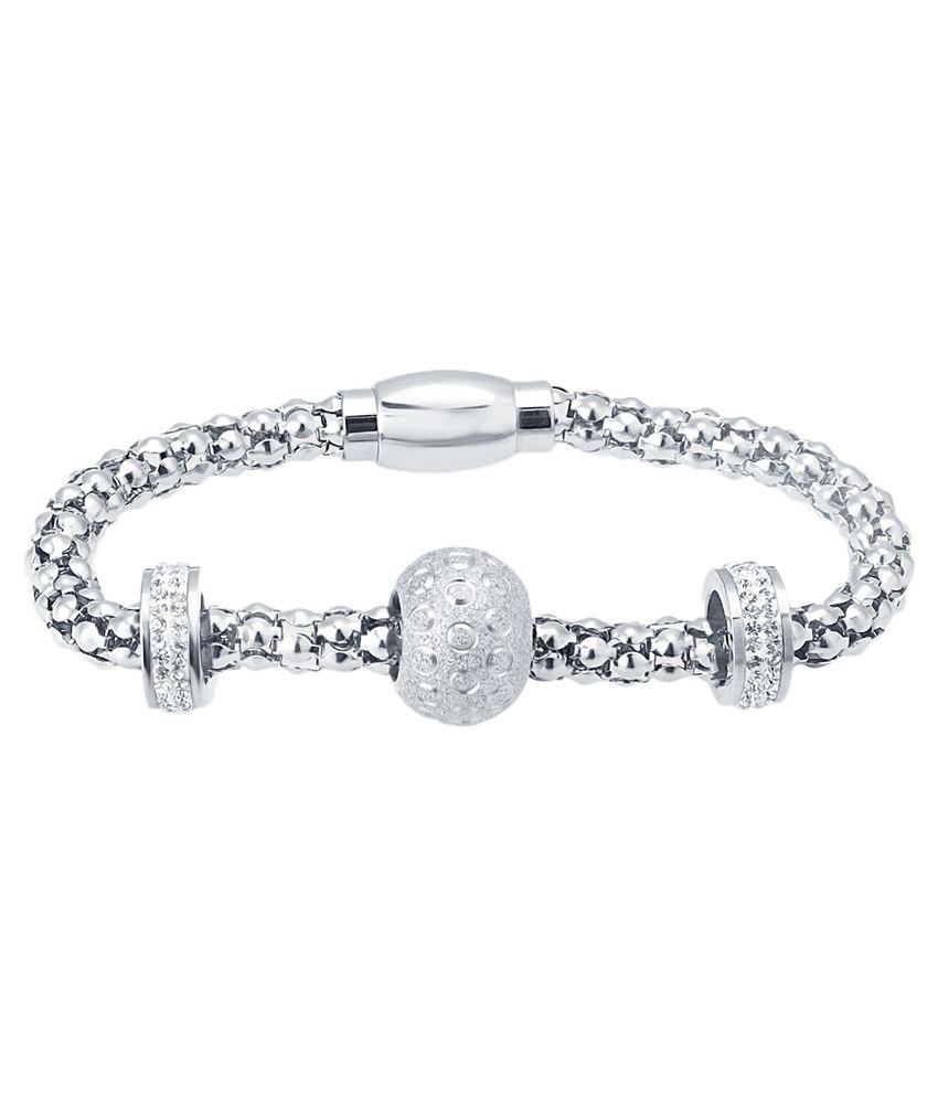 Iaara Silver Alloy Bracelet