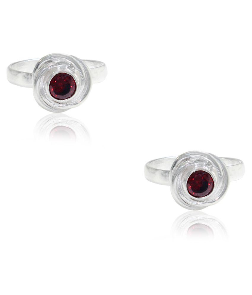 Pehchan German Silver Toe Ring