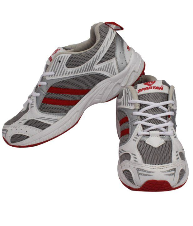Spartan White Torando Jogging Shoes