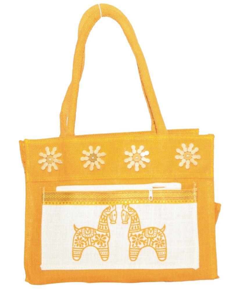 Vakula Exports Yellow Shoulder Bag