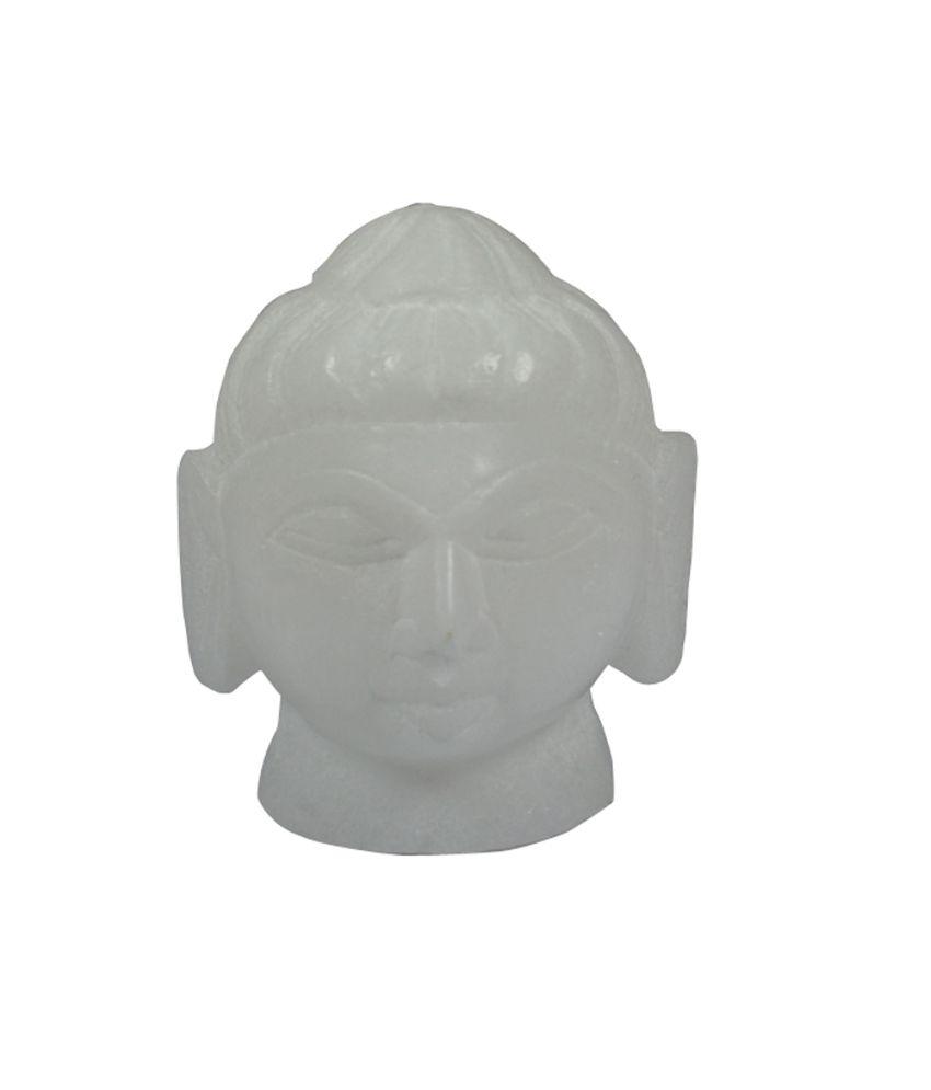 Craftuno Handcrafted Marble Budha Head