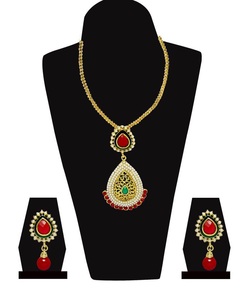 Jewelz Golden Alloy Necklace Set
