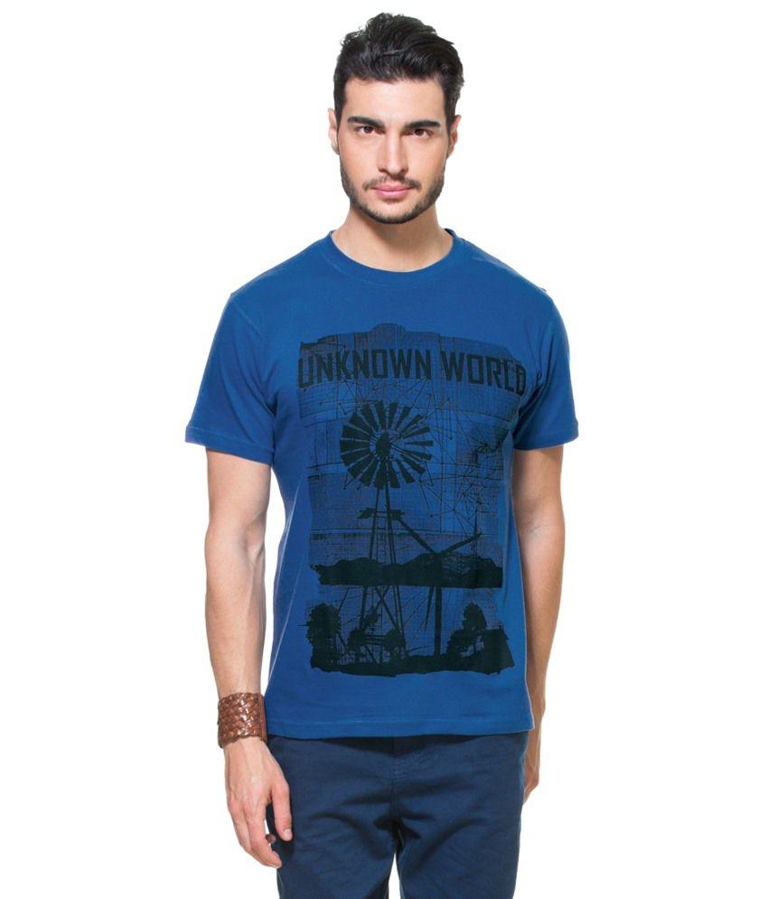 Zovi Unknown World Royal Blue Graphic T-shirt